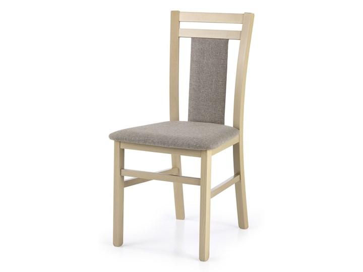 SELSEY Krzesło Dekani dąb sonoma Drewno Tapicerowane Tkanina Kolor Beżowy