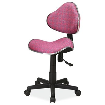 SELSEY Fotel biurowy Morild różowe wzory