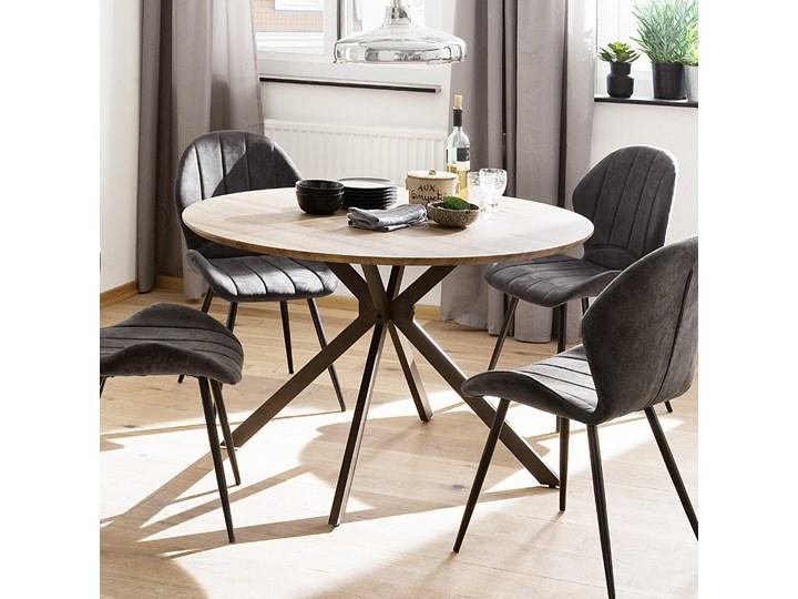 SELSEY Stół Tullia średnica 120 cm dąb dziki Pomieszczenie Stoły do salonu Drewno Rozkładanie