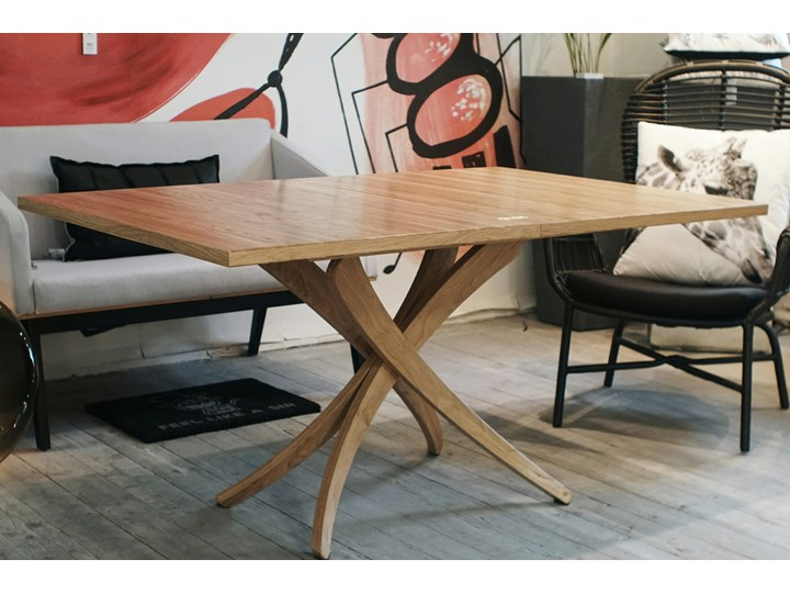 SELSEY Stół rozkładany Genius 3w1 70-140x100 cm kolor naturalny Drewno Wysokość 80 cm Długość 150 cm  Długość 140 cm  Kolor Beżowy