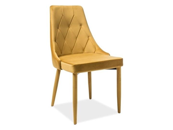 SELSEY Krzesło tapicerowane Cornido miodowy welur Krzesło inspirowane Pikowane Tkanina Metal Kategoria Krzesła kuchenne