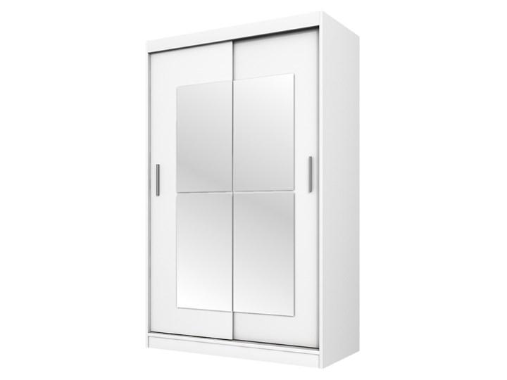 SELSEY Szafa Vaniva 120 cm z lustrem Płyta MDF Tworzywo sztuczne Płyta laminowana Plastik Drewno Pomieszczenie Garderoba