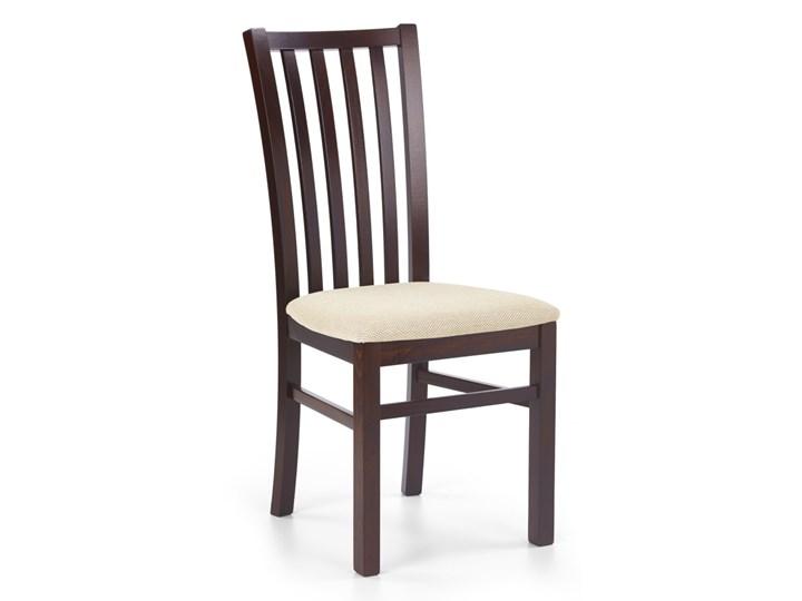 SELSEY Krzesło Andan ciemny orzech z beżowym siedziskiem Tapicerowane Drewno Tkanina Kategoria Krzesła kuchenne Styl Klasyczny