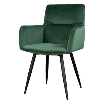 SELSEY Krzesło Mosterio z podłokietnikami zielony velvet