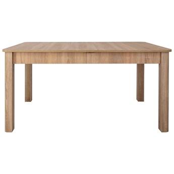 SELSEY Stół rozkładany Eagor 140-190x84 cm zaokrąglonymi rogami dąb sonoma