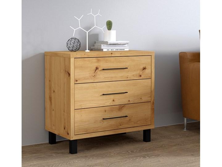 SELSEY Komoda z trzema szufladami Azelle dąb Artisan Drewno Pomieszczenie Sypialnia Z szufladami Pomieszczenie Garderoba