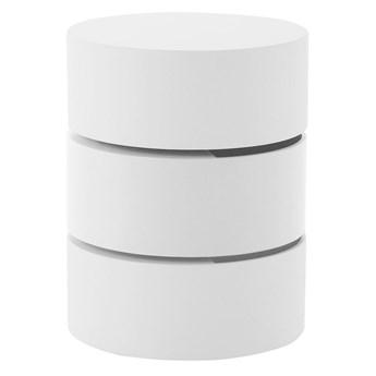 SELSEY Stolik kawowy Kalnik o średnicy 40 cm biały
