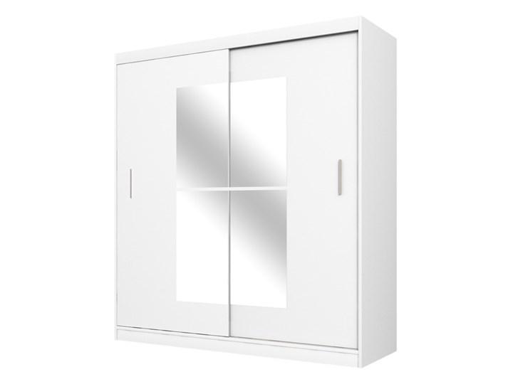 SELSEY Szafa Vaniva 180 cm z lustrem Drewno Tworzywo sztuczne Płyta MDF Płyta laminowana Plastik Pomieszczenie Sypialnia