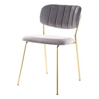 SELSEY Krzesło tapicerowane Kabdi szare