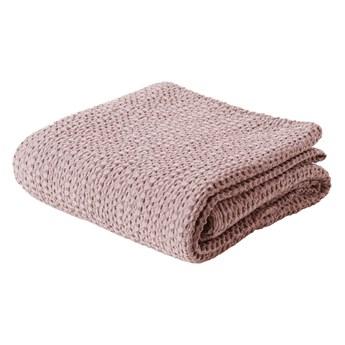 SELSEY Narzuta na łóżko Alpinia bawełniana różowa