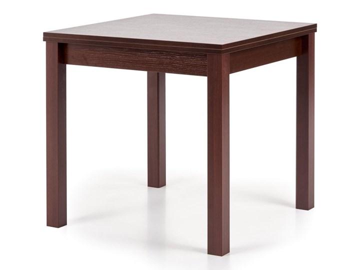 SELSEY Stół rozkładany Lea 80-160x80 cm ciemny orzech