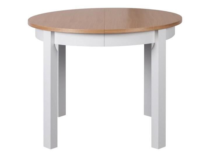 SELSEY Stół rozkładany Gabele okrągły Wysokość 76 cm Długość 100 cm Szerokość 100 cm Długość 250 cm Drewno Rozkładanie Rozkładane