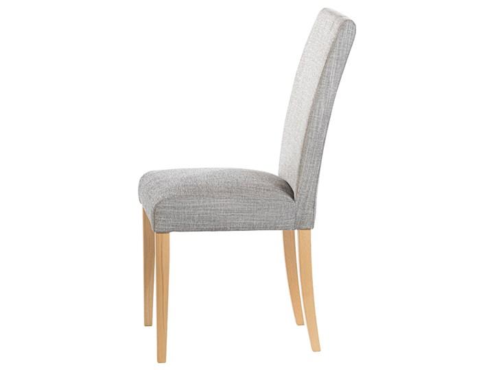 SELSEY Krzesło tapicerowane Aterin jasnoszare w tkaninie łatwoczyszczącej na bukowej podstawie Tkanina Drewno Pomieszczenie Jadalnia