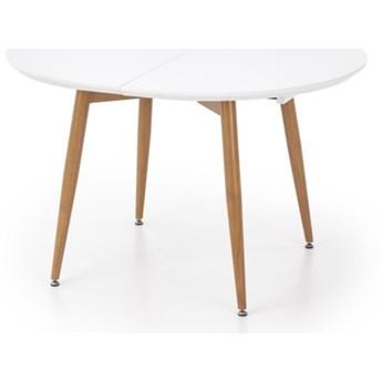 SELSEY Stół rozkładany Lerma 120-200x100 cm biały - dąb miodowy
