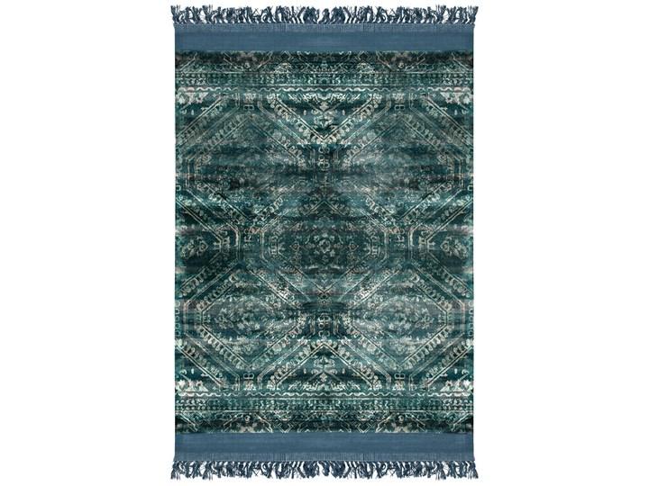 SELSEY Dywan klasyczny Rijl morski z frędzlami Dywany 200x300 cm Wiskoza Prostokątny Wełna 160x230 cm Wzór Marokański