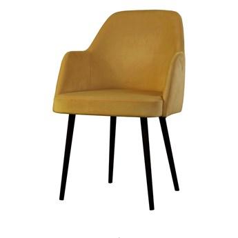 SELSEY Krzesło tapicerowane Kebbi żółte