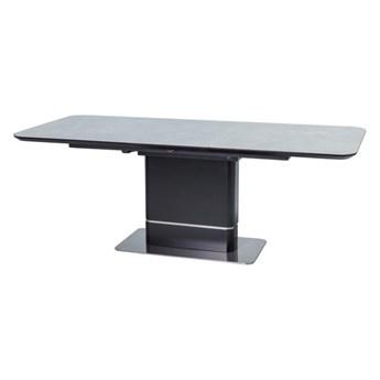 SELSEY Stół rozkładany Jukatan 160-210x 90 cm szary marmur - czarny