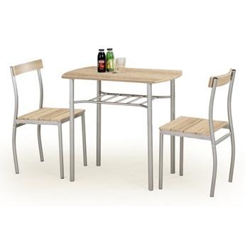 SELSEY Stół z krzesłami Parra dąb sonoma