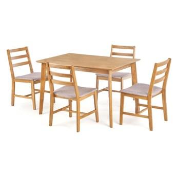SELSEY Stół z krzesłami Ques jasny dąb