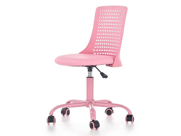 SELSEY Fotel biurowy Gedici różowy Tworzywo sztuczne Skóra ekologiczna Krzesło do biurka Styl Nowoczesny