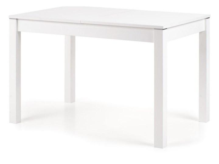 SELSEY Stół rozkładany Veiga 118-158x75 cm biały Styl Skandynawski Płyta MDF Wysokość 76 cm Długość 158 cm  Styl Nowoczesny