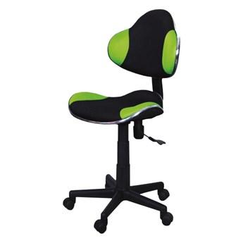 SELSEY Fotel biurowy Morild czarno-zielony