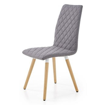 SELSEY Krzesło tapicerowane Jaruge szare