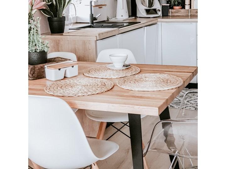 SELSEY Stół Sages 150x90 z litego drewna Długość 150 cm  Metal Szerokość 90 cm Drewno Wysokość 77 cm Kategoria Stoły kuchenne
