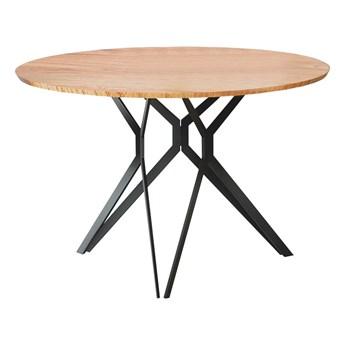 SELSEY Stół Kylie dąb złoty - czarna podstawa