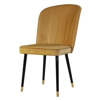 SELSEY Krzesło tapicerowane Guavra żółte