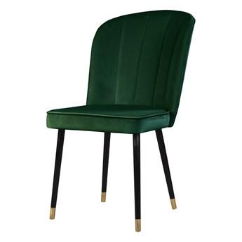 SELSEY Krzesło tapicerowane Guavra butelkowa zieleń