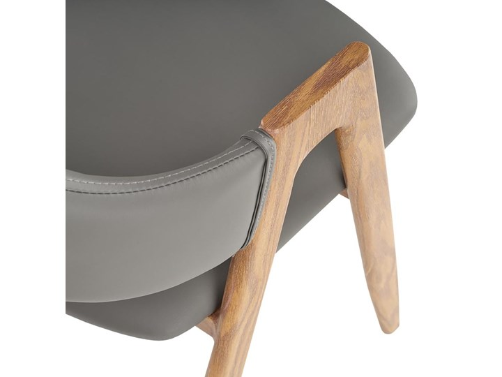 SELSEY Krzesło tapicerowane Sherris popielate - dąb miodowy Drewno Metal Tkanina Skóra ekologiczna Pomieszczenie Jadalnia