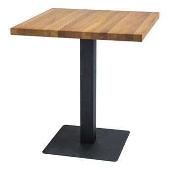 SELSEY Stół Divock 70x70 cm z fornirem dębowym