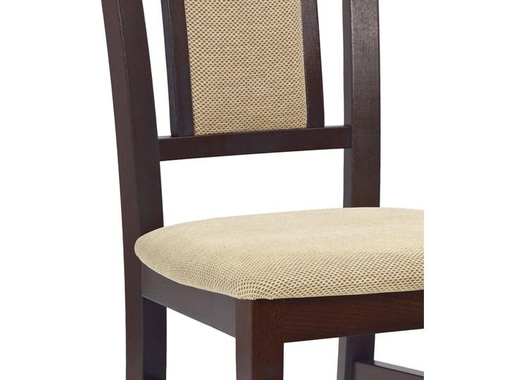 SELSEY Krzesło tapicerowane Mirna ciemny orzech Tkanina Drewno Styl Klasyczny Kategoria Krzesła kuchenne