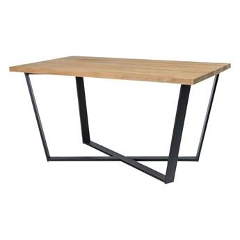 SELSEY Stół Selfoss 150x90 cm z litego drewna dębowego