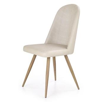 SELSEY Krzesło tapicerowane Sivica kremowe