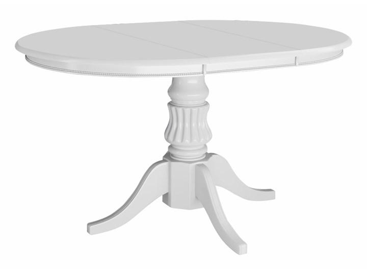 SELSEY Stół rozkładany Valle 90-124x90 cm biały Drewno Kształt blatu Okrągły Długość 124 cm Wysokość 75 cm Płyta MDF Rozkładanie Rozkładane