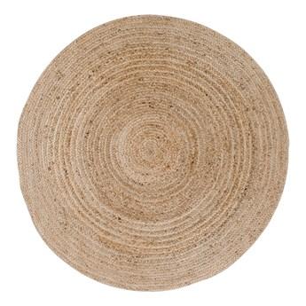 SELSEY Dywan okrągły Fuzzle o średnicy 120 cm naturalna juta