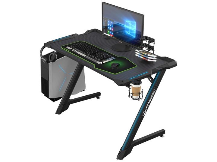 SELSEY Biurko gamingowe Corli czarne Biurko komputerowe Aluminium Pomieszczenie Pokój nastolatka