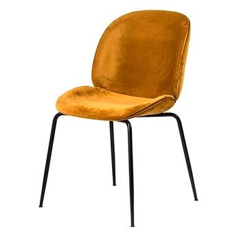 SELSEY Krzesło tapicerowane Dapino miodowe