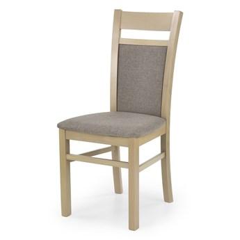 SELSEY Krzesło tapicerowane Tadini dąb sonoma z beżowym tapicerowaniem
