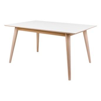 SELSEY Stół rozkładany Bimnal biały/drewno naturalne 150x95 cm