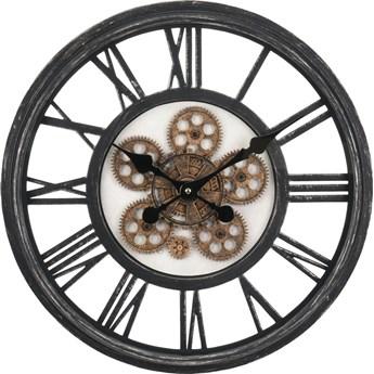 SELSEY Zegar ścienny Kaeng czarny vintage średnica 50 cm