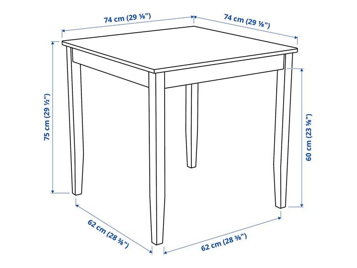 IKEA LERHAMN Stół i 2 krzesła, bejca jasna patyna biała bejca/Vittaryd beżowy, 74x74 cm Pomieszczenie Jadalnia Kolor Biały