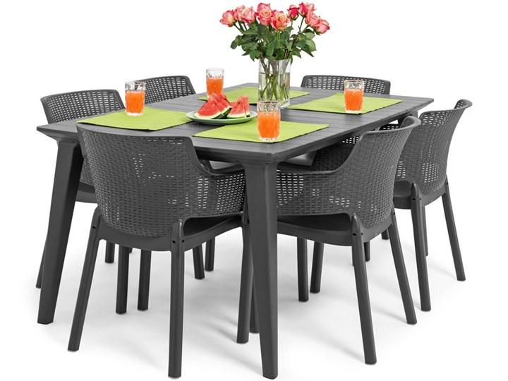 Meble ogrodowe 6-osobowe EVA+LIMA - grafitowe Zawartość zestawu Krzesła Stoły z krzesłami Zawartość zestawu Stół