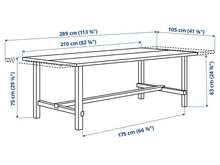 IKEA NORDVIKEN / NORDVIKEN Stół i 6 krzeseł, bejca patynowa/bejca patynowa, 210/289x105 cm Kategoria Stoły z krzesłami