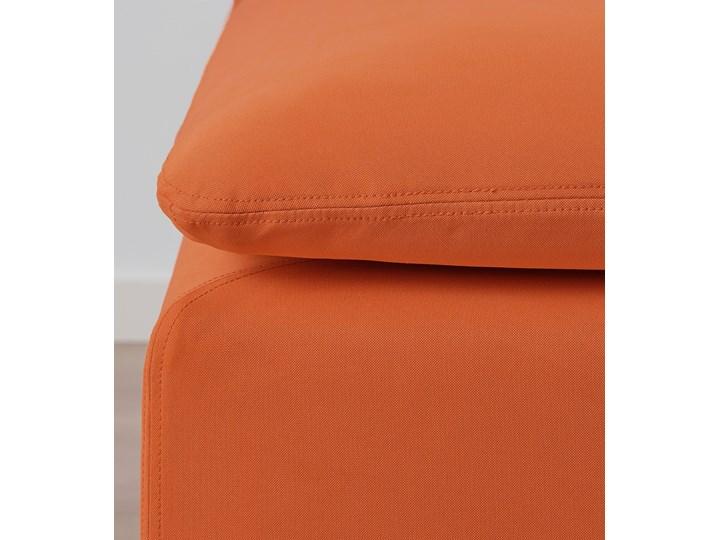 IKEA SÖDERHAMN Sekcja 3-osobowa, Samsta pomarańczowy, Szerokość: 186 cm Modułowe Nóżki Na nóżkach