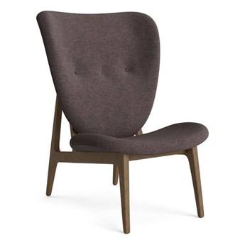 Fotel tapicerowany ELEPHANT LOUNGE F-UP drewno dębowe Light Smoked tkanina Barnum Boucle brązowo-szary NORR11