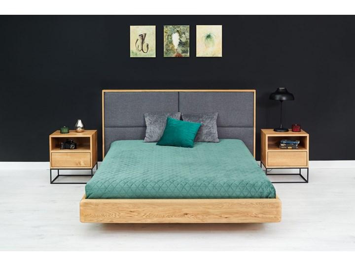 Łóżko lewitujące Dome Dąb 120x200 cm Łóżko tapicerowane Kolor Szary Drewno Styl Nowoczesny