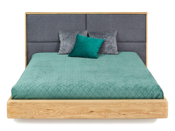 Łóżko lewitujące Dome Dąb 200x200 cm Drewno Łóżko tapicerowane Kolor Beżowy